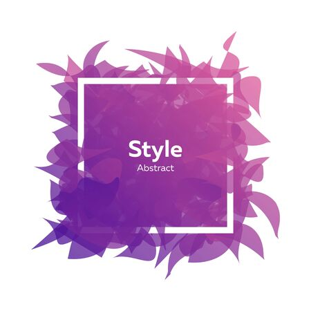 Abstract graphic element with pieces looking like petals. Gradient colour, violet, pink. .Abstract background design. Vector illustration with advertising concept for flyer or presentation  イラスト・ベクター素材