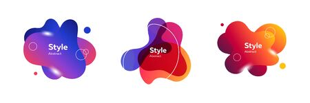 Modern composition of abstract creative wavy blobs. Design template for presentation. Abstract form dynamic composition. Modern style illustration