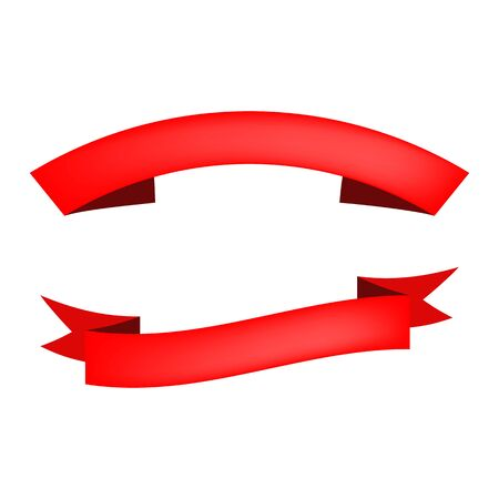 Two decorative bands illustration. Grand opening, red band, shopping. Decoration concept. illustration can be used for topics like celebration, decorative elements