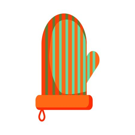 Oven mitten illustration. Pot holder, helper. Kitchenware concept. illustration can be used for topics like kitchen, cooking