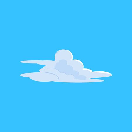 Creative cloud shape on blue sky illustration. Cloudscape, weather, atmosphere. Cloud shape concept. illustration can be used for topics like nature, environment, ecology