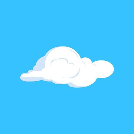 Cumulus cloud illustration. Blue sky, soft, summer. Weather concept. illustration can be used for topics like climate, nature
