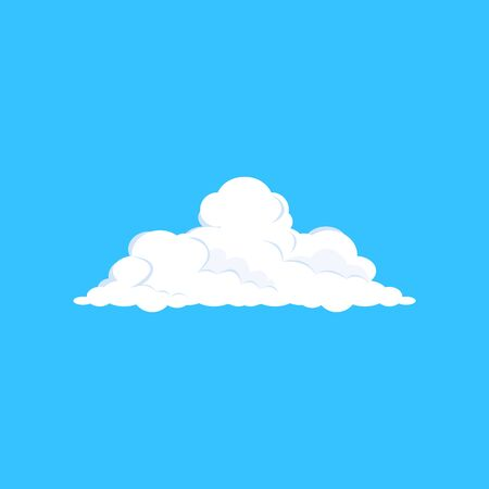 White cloud illustration. Blue sky, soft, summer. Weather concept. illustration can be used for topics like climate, nature