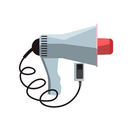 Gray megaphone illustration. Loud speaker, dynamic, meeting. Demonstration concept. illustration can be used for topics like event, speech