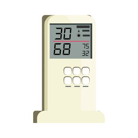Air conditioner remote control . Temperature, humidity, climate control. Thermometer concept. can be used for topics like domestic appliance, climate control equipment, technology