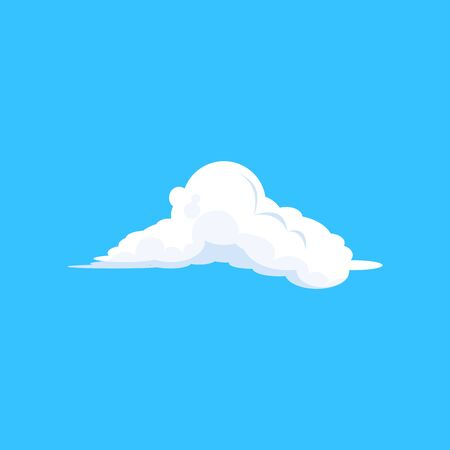 Fluffy cloud over blue sky illustration. Summer, day, atmosphere. Cloud shape concept. illustration can be used for topics like nature, environment, meteorology
