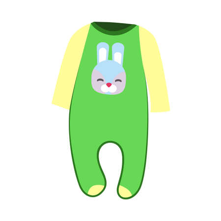 Green baby bodysuit illustration. Baby clothing concept. illustration can be used for topics like wardrobe, cloth market, children clothing