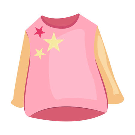 Pink pajama shirt illustration. Baby clothing concept. illustration can be used for topics like wardrobe, cloth market, children clothing