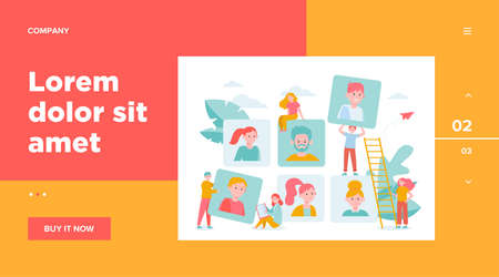 Talent choice concept. Employers looking for candidates for job interview. Managers working with customers. Vector illustration for recruit agency, career, audience topics