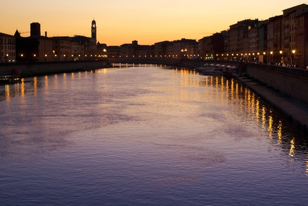 evening by arno river