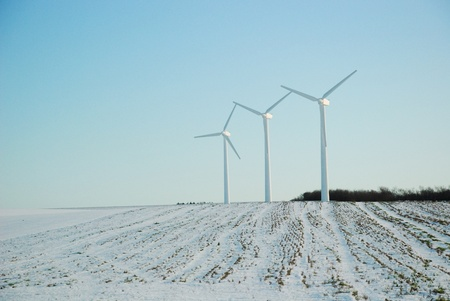 electric windmill Stock Photo