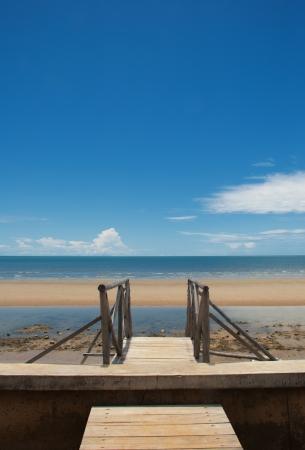 The beach at Hua Hin, Thailand  Stock Photo