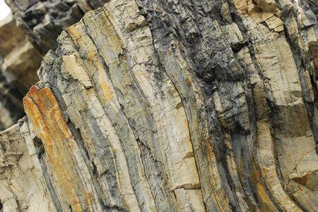 sedimentary: Wall of sedimentary rock, Cinque Terre, Liguria, Italy