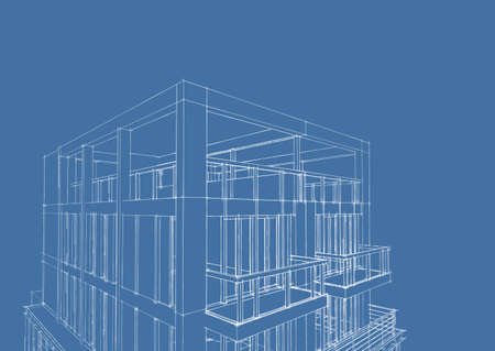 Overlay of house blueprint floor plan elevations and washroom 3d blueprint sketch of modern house construction photo malvernweather Image collections