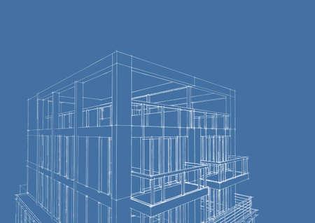3d blueprint sketch of modern house construction stock photo 3d blueprint sketch of modern house construction stock photo 23708851 malvernweather Choice Image