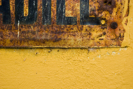 strret: Partial of a strret sign, close-up, background Stock Photo