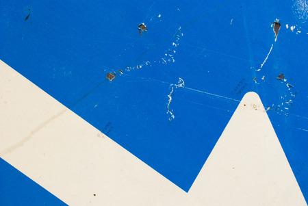 strret: Partial of a strret sign arrow background
