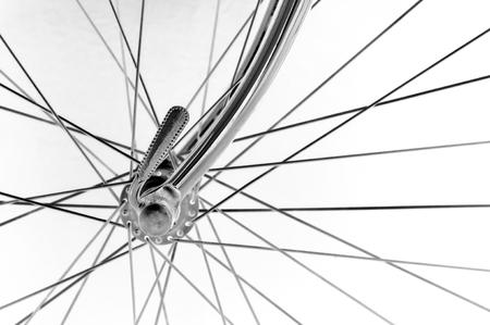 vintage italian bicycle front hub on black background