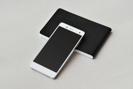 Smart phone and notebook, isolated