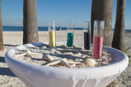 Wedding Sand Ceremony on a Beach in the Florida Keys