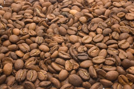 Background made out of coffee beans