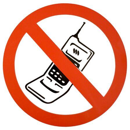 interdiction telephone: Pas de t�l�phone cellulaire signe rouge noir et blanc, signe