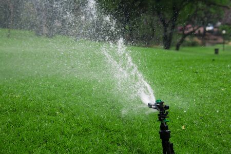 This is a sprinkler on grass Stock Photo - 8392911