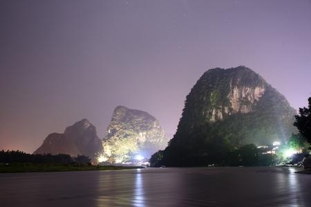 Yangshuo at night Editorial