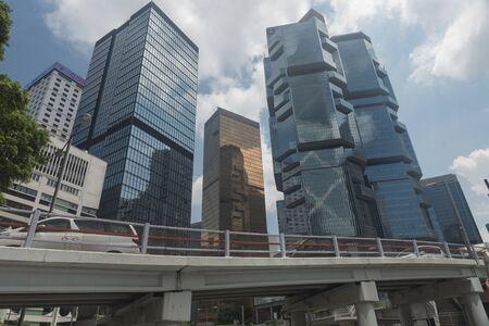 Hong kong Island, Hong Kong - September 11, 2017 4:24:29 :  Business area of Hong Kong Editorial