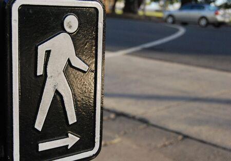 cross walk: Cross walk sign