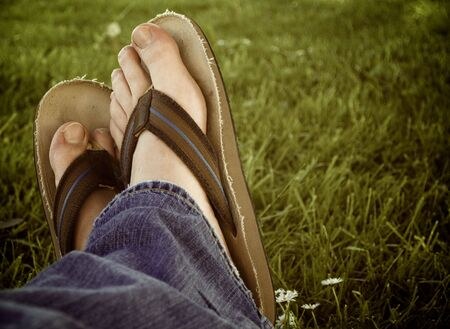 flops: Flip Flops with feet in them