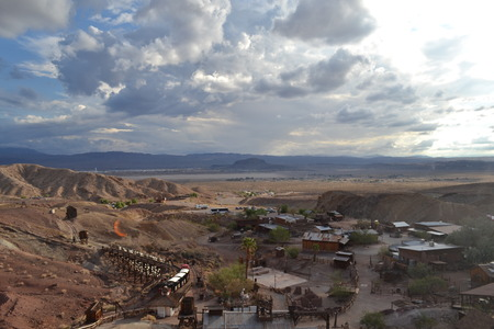 calico: View of Calico Town Stock Photo