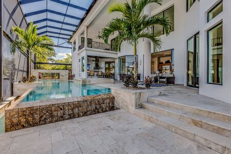 Outdoor pool of luxury Florida home