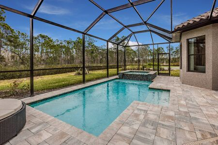 Pool in back of Florida home