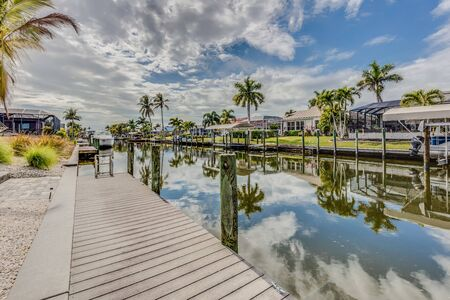 Canal waterway in Cape Coral Florida