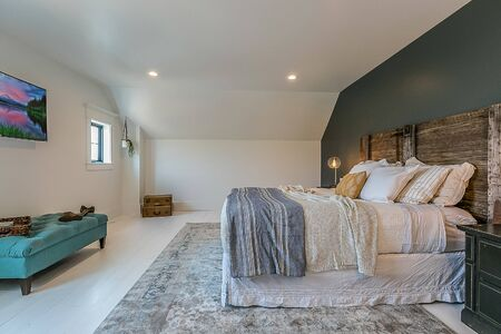 master bedroom with lots of amenities