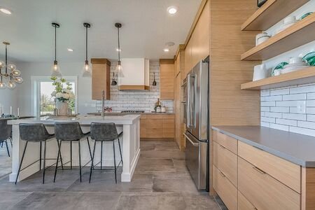 Modern kitchen with a lot of counter space