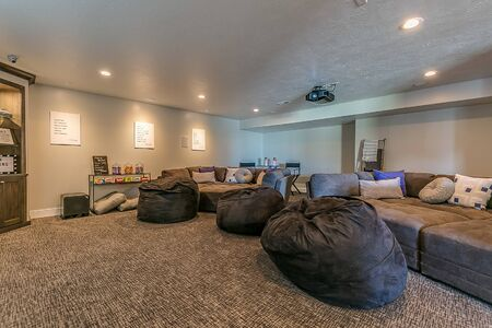 Large movie theater room with space for family and friends