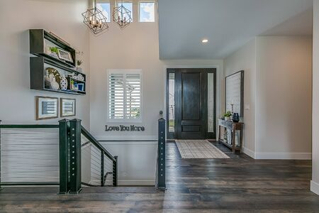 Open and welcoming front entry of beautiful new home