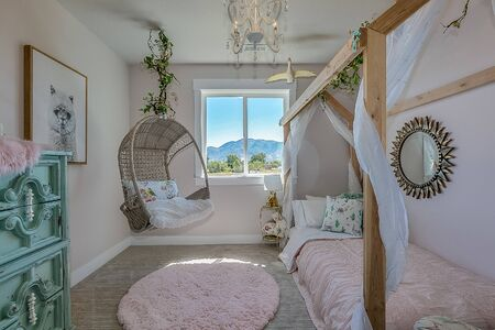 This fairytale decorated bedroom is a girls dream