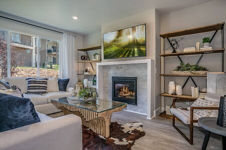 Beautiful living room of open concept layout home