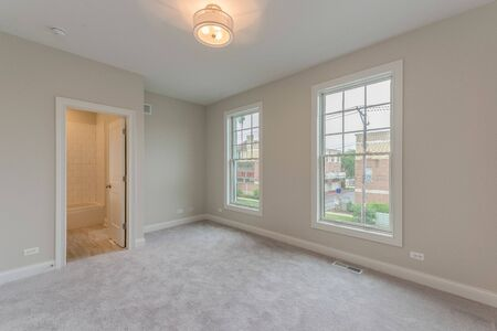 Upstairs bedroom of newly built home