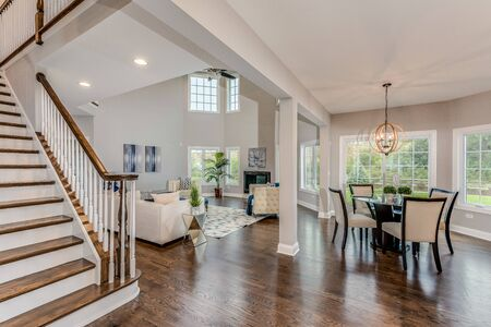 Two story leads into open floorplan and two story great room