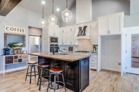 Large and open newly built kitchen