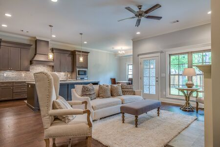Cozy family room and small open layout