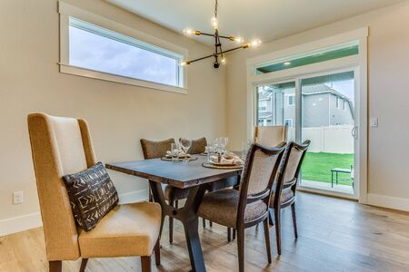Stunning dining area with awning window