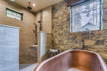 Enjoyable spa-like setting in master bathroom