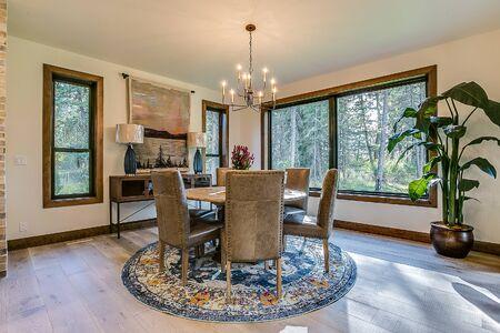 Dining area of new Idaho showcase home