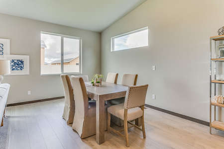 Informal dining area that is part of open layout floorplan