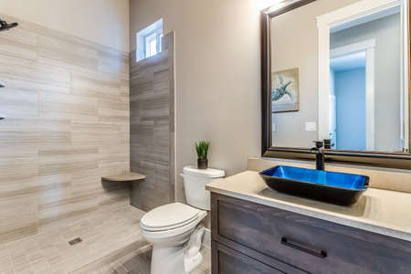 A very big bath room with access to the main room.